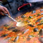 Spain's famous crowd pleaser, the paella tipica from Valencia