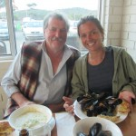 Bruny Island seafood with Alan and Keri