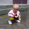 Chinese toddler with split pants